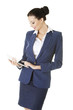 Business woman holding tablet computer