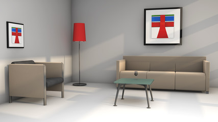 Sofas y decorado