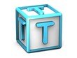 T Letter Cube