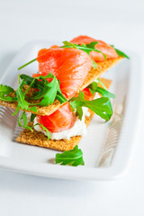 Smoked Salmon Canapes with Cream Cheese