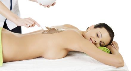 Spa saloon- chocolate massage.