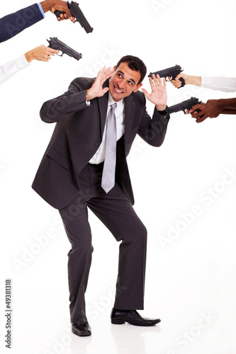 most hated colleague being attacked by others with guns