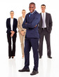african american businessman and colleagues full length