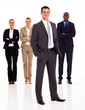 group of business people full length isolated on white