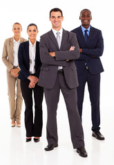 group of business people full length on white