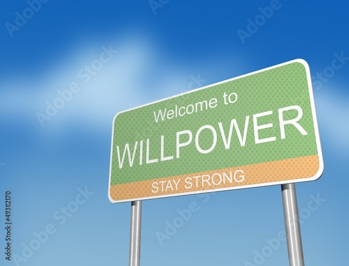 WILLPOWER - road sign