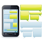 Phone Chatting Template. Vector Image for Your Text