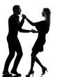 couple woman man dancing dancers salsa rock silhouette