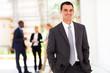 handsome modern businessman in office