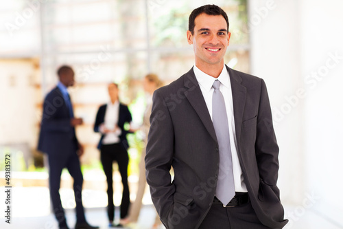 handsome modern businessman in office