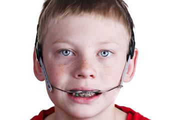 Boy with braces