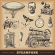 Steampunk design elements - 49383935