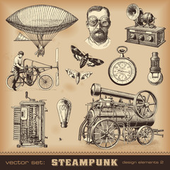 Steampunk design elements