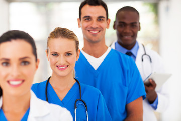 group of medical doctors and nurses portrait