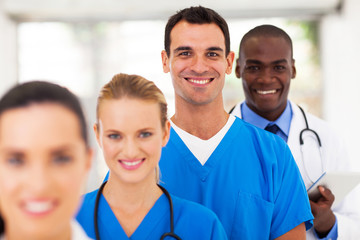 group of modern medical professionals portrait