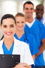 group of modern smart medical team closeup