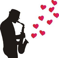 Drawing Saxophonist Hearts