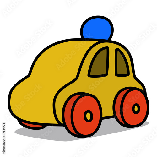 Cartoon Car 54 : Wooden Toy Car