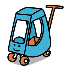 Cartoon Car 60 : Baby Cart