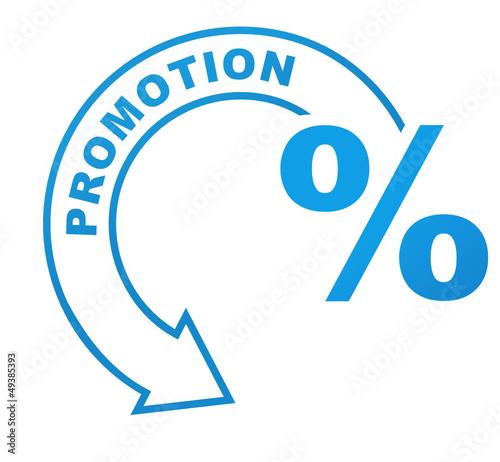 promotion sur symbole bleu