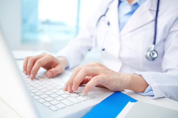 Clinician typing