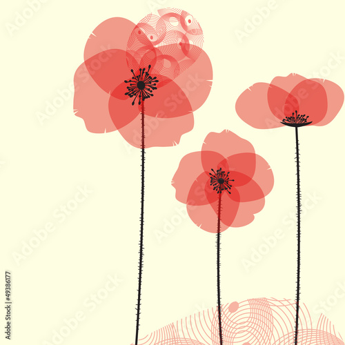 Tuinposter Abstract bloemen Poppy