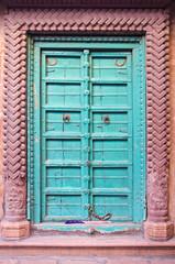 beautiful and ornamental door in Jodhpur, India