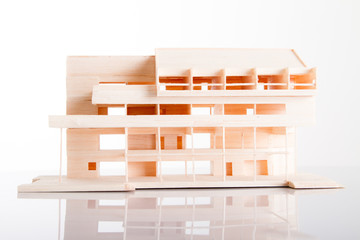 Architecture model Building showing structure