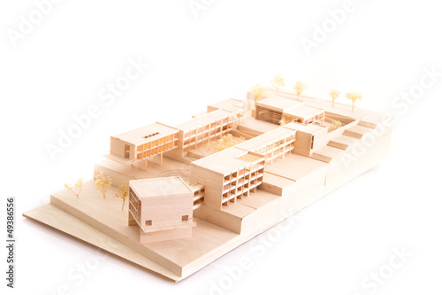 Architecture model house on white beackground