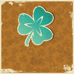 Retro clover background