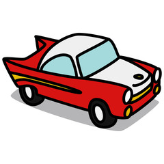 Cartoon Car 61 : Old Sports Car