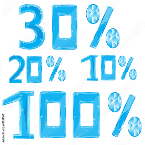 Numerals in ice percent
