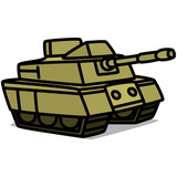 Cartoon Car 63 : Military Tank