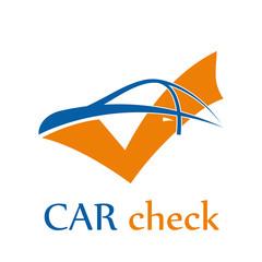 Vector logo car check