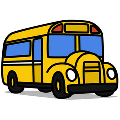 Cartoon Car 65 : School Bus