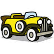 Cartoon Car 69 : Vintage Luxury Car