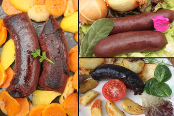 Boudin Noir aux Oignons - Patate douce - Pomme