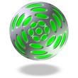 grüne glänzende Kugel