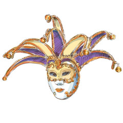 Venetian Mask - vector drawing
