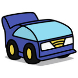 Cartoon Car 77 : Future Compact Car