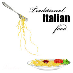 Traditional italian best food Spaghetti