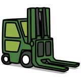 Cartoon Car 79 : Forklift Truck