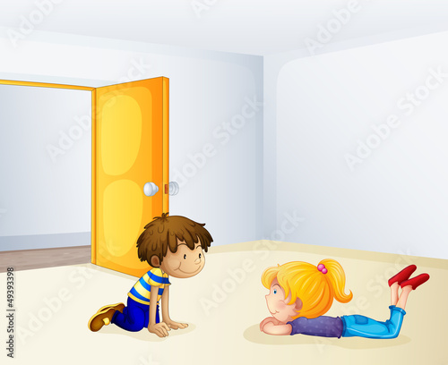 Kids chatting inside a room