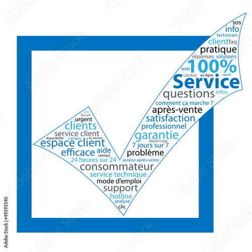 "Nuage de Tags ""100% SERVICE"" (aide questions contact faq)"