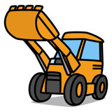Cartoon Car 94 : Shovel Dozer