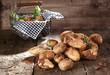 Harvest of farm fresh potatoes