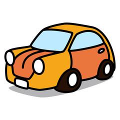 Cartoon Car 98 : Classic Orange Car