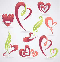 vector collection of love concept, labels and forms..