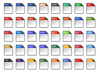 Filetype Icons - Design ''Kapiku Blank'' - Set 3