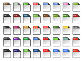 Filetype Icons - Design ''Kapiku Blank'' - Set 2